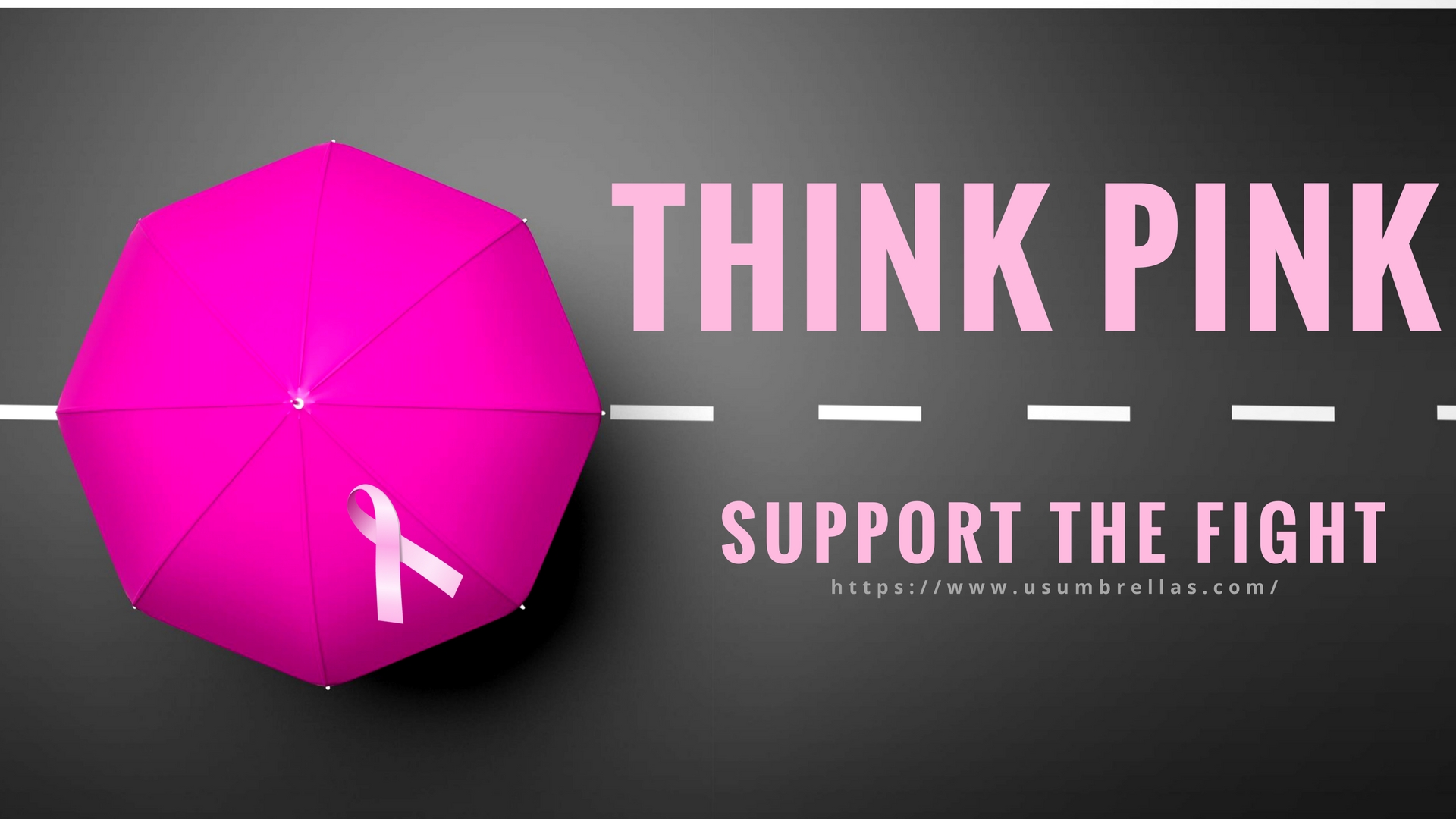 October Is the Time for You To Think Pink With Custom Pink Umbrellas ...
