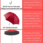 Umbrellas make Unusual Gift ideas for Valentine's Day that will surprise your recipients