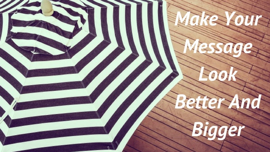 Oversized Custom Umbrellas Will Make Your Message Look Better And Bigger