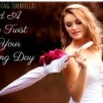 Custom Wedding Umbrellas- Add A Retro Twist To Your Wedding Day