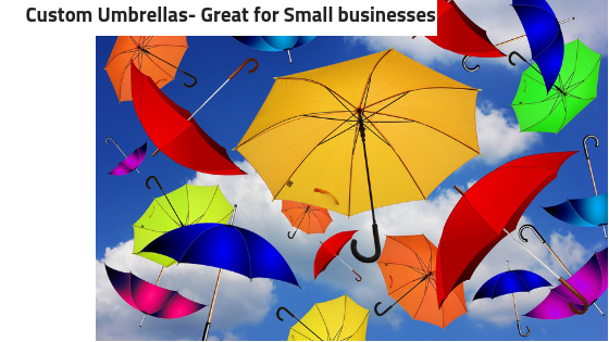 Logo Umbrellas- Great for Small business promotions