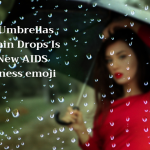 Open Umbrellas With Rain Drops Is The New AIDS Awareness emoji